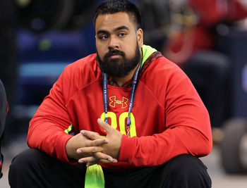 Lotulelei has to sit out the combine drills.