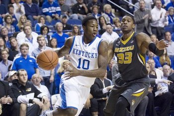 Wildcat freshman guard Archie Goodwin against Missouri. USA TODAY Sports