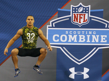 Oregon State cornerback Jordan Poyer at the combine