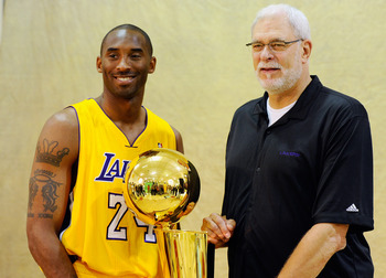 Kobe's looking for yet another championship trophy.