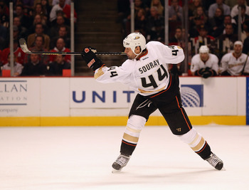 Ducks defender Sheldon Souray is second in the NHL in plus/minus.