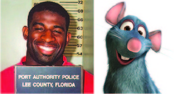 Images via Lee County Sheriff's Deptartment and Pixar.com