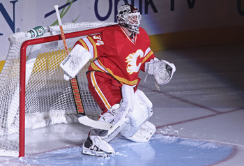 Miikka Kiprusoff is just one of four goaltenders to see time for the Calgary Flames.