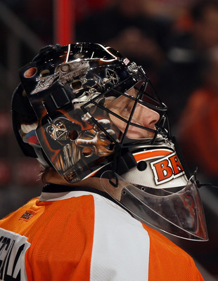 When not contemplating the universe, Ilya Bryzgalov can be found in the Flyers' net.