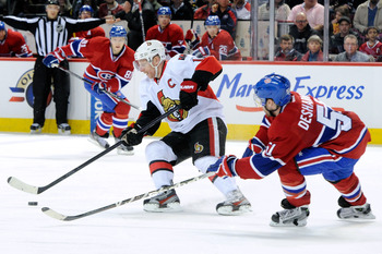 Daniel Alfredsson has done his thing against the Montreal Canadiens in his career.