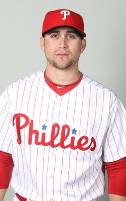 February 18, 2013; Clearwater, FL, USA; Philadelphia Phillies outfielder Ender Inciarte (43) poses for a picture during photo day at Bright House Networks Field. Mandatory Credit: Kim Klement-USA TODAY Sports