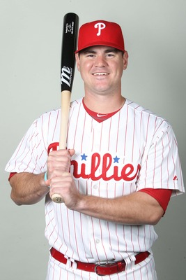 February 18, 2013; Clearwater, FL, USA; Philadelphia Phillies catcher Tommy Joseph (73) poses for a picture during photo day at Bright House Networks Field. Mandatory Credit: Kim Klement-USA TODAY Sports