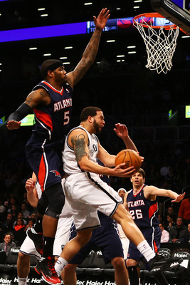 Deron Williams scored a game-high 24 points in the win over the Hawks on January 18.