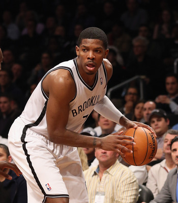 Joe Johnson scored 26 of the Nets' season-high 119 points against the Nuggets on February 13.
