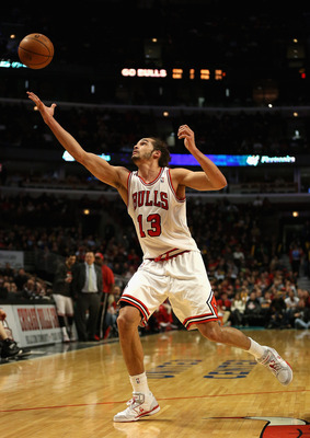 Bulls' center Joakim Noah missed the second meeting between Chicago and Brooklyn due to a foot injury.