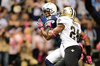 Meachem (12) had two TDs against his former Saints team and ZERO the rest of the year.