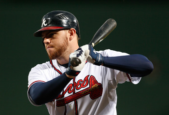 Freddie Freeman led Atlanta with 94 RBI in 2012.