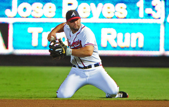 Dan Uggla led the NL with 94 walks in 2012.