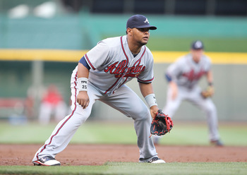 Juan Francisco could split time at third base for Atlanta.