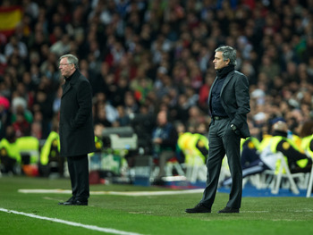 Mourinho and his old adversary Fergie