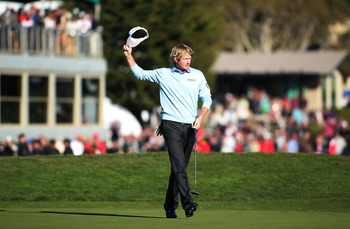 Winners doff their caps or vistors as Brandt Snedeker does here.
