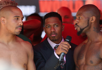 Nick Cannon at Andre Ward vs. Chad Dawson weigh-in