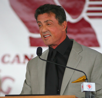 Stallone getting inducted into the International Boxing Hall of Fame