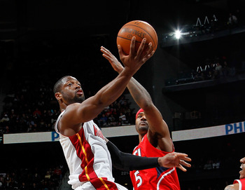 Dwyane Wade, seen here in a February 2012 game against the Hawks, made the most of his time on the court.