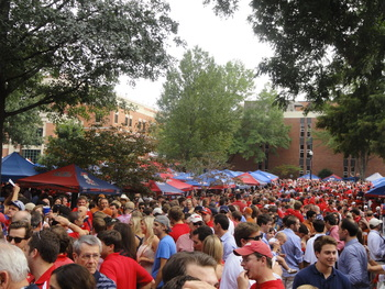 Another beautiful day in the Grove at Ole Miss