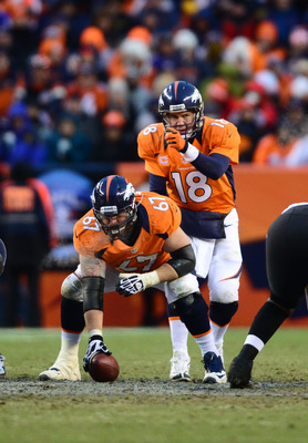Dan Koppen replaced Jeff Saturday as Peyton Manning's center.