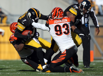 The Bengals gave defensive end Michael Johnson their franchise tag.