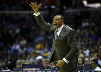 Jan 27, 2013; Memphis, TN, USA;  Memphis Grizzlies head coach Lionel Hollins during the game against the New Orleans Hornets at the FedEx Forum.  New Orleans Hornets defeat the Memphis Grizzlies 91-83.  Mandatory Credit: Spruce Derden–USA TODAY Sports
