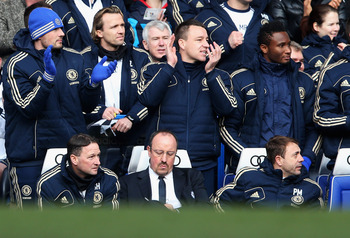John Terry had to watch from the sidelines once more on Saturday.