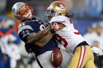 49ers safety Dashon Goldson knocking the ball loose
