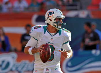 Miami backup quarterback Matt Moore