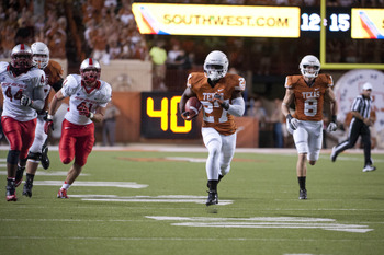 Daje Johnson, Texas' fastest player, is going to be a matchup nightmare in Applewhite's offense.