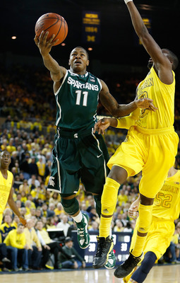 Michigan State did not get as many easy baskets as it did in the first meeting with Michigan.