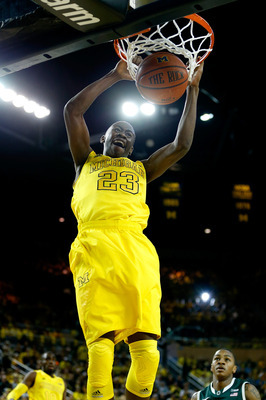 Caris LeVert played with outstanding poise throughout the entire game against Michigan State.