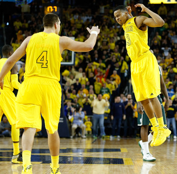 Trey Burke and the Wolverines can still clinch a share of the Big Ten title by winning out and getting some help from Ohio State.