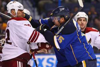 The St. Louis Blues will bring their gritty style of play into Phoenix on Thursday for a big Western Conference matchup