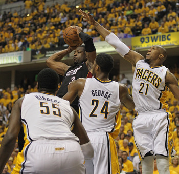 The Pacers' trio has the size to give the Heat problems.