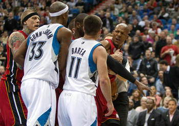 Ray Allen and J.J. Barea have words on Monday