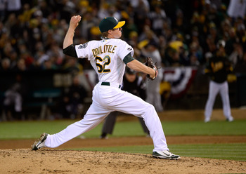 Sean Doolittle is a dark horse closer candidate in Oakland.