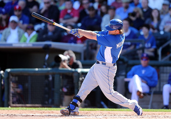 Mike Moustakas still boasts massive upside at third base.