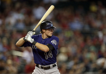 Josh Rutledge displayed flashes of power and speed in Colorado.