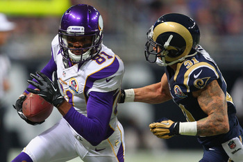 Jerome Simpson caught 26 passes for 274 yards in his first season with Minnesota.