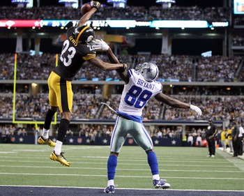 Pittsburgh cornerback Keenan Lewis leaping into action