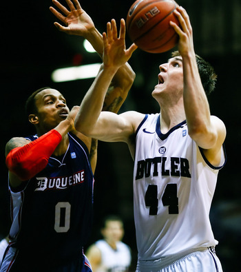 Butler senior center Andrew Smith.