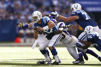 The Colts need offensive line reinforcements so this doesn't happen as often next year.