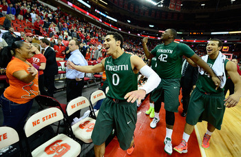 Shane Larkin and co. after beating Wolfpack