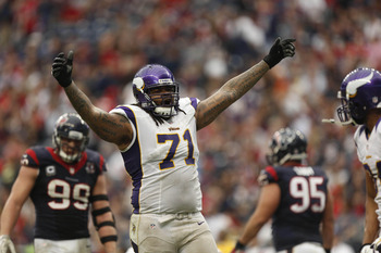 Phil Loadholt is a monster offensive lineman the Vikings cannot afford to lose.