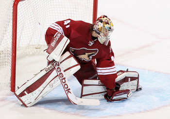 2013 has seen Mike Smith drop off from last season's playing level.