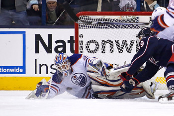 Devan Dubnyk has been good, but not great for the Oilers this season.
