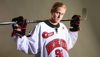 Image courtesy of Northeastern Huskies athletics, Obtained from: http://gonu.com/news/2012/12/13/WHKY_1213122742.aspx