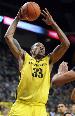 Senior forward Carlos Emory against Colorado on Feb. 7.